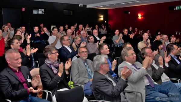 Im Publikum waren u.a. Andreas Paruszewski, Birgit Sobiech, Thomas Wilde und Claas Merfurt, Hans Hengelein