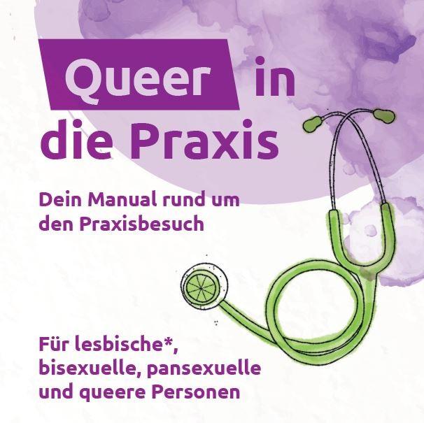 """Flyer """"Queer in die Praxis"""""""