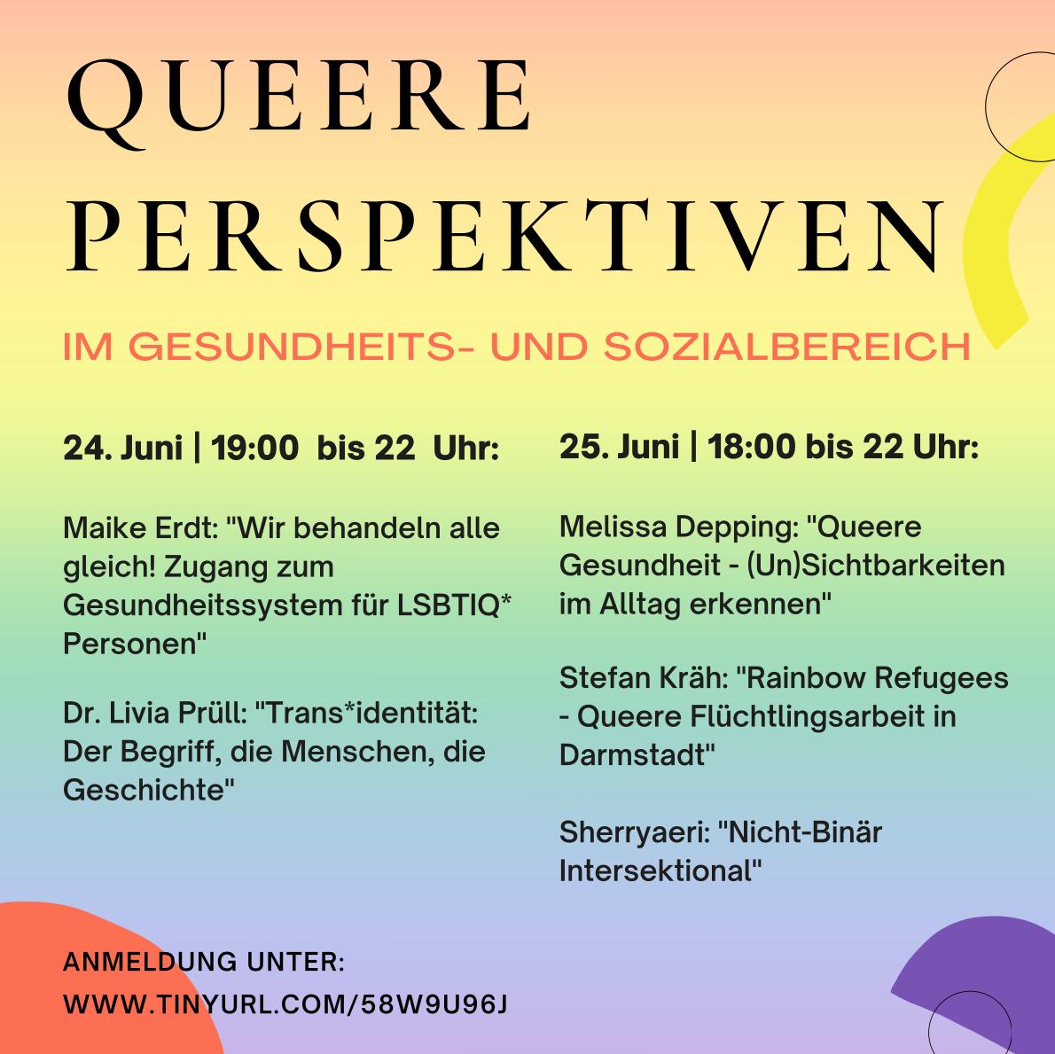 """Flyer """"Queere Perspektiven"""""""